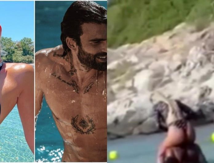 Στην Χαλκιδική η Ιωάννα Τούνη με τον Δημήτρη Αλεξάνδρου - Τα παιχνίδια στην θάλασσα