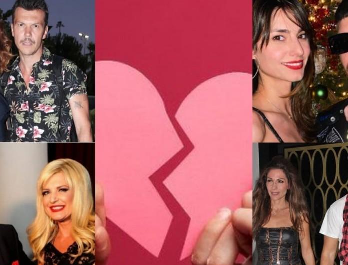 7+1 ζευγάρια της ελληνικής showbiz που μέσα στο 2021 ανακοίνωσαν πως χώρισαν