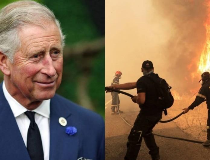 Το σπαρακτικό μήνυμα του Πρίγκιπα Κάρολου για τις φωτιές στην Ελλάδα