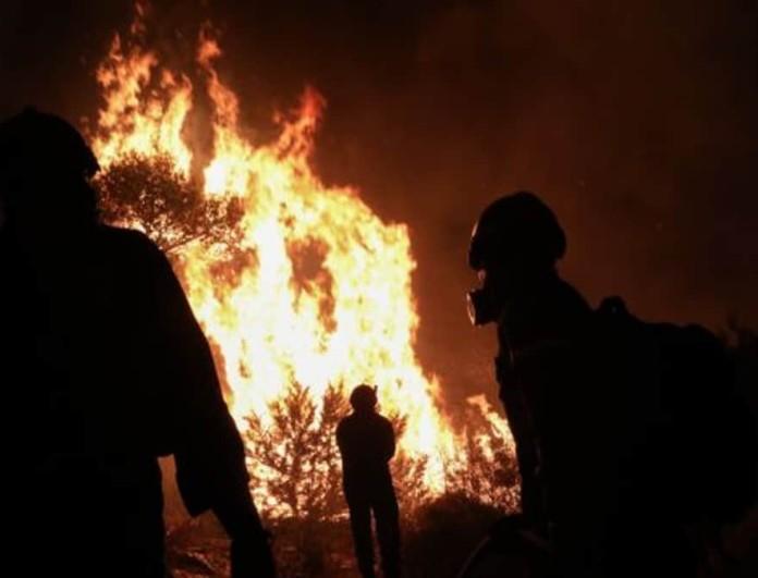 Ολονύχτια μάχη με τις φλόγες στη Νέα Μάκρη