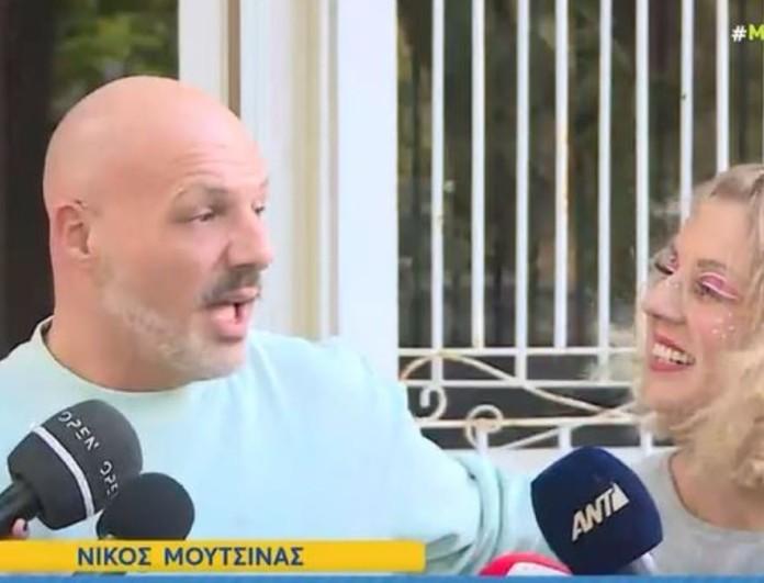 Απίστευτη αντίδραση του Νίκου Μουτσινά μπροστά από τις κάμερες - «Τι είμαι, βλάκας;»