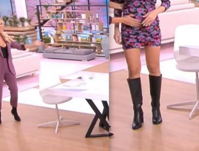 Άφωνη η Κατερίνα Καινούργιου στον αέρα του ALPHA - Η καλεσμένη της εμφανίστηκε με κοιλιά τούρλα