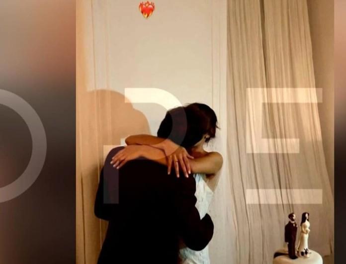 Για πρώτη φορά: Βίντεο ντοκουμέντο από το καυτό φιλί του Μαραβέγια στην Σωτηροπούλου δίπλα στην γαμήλια τούρτα