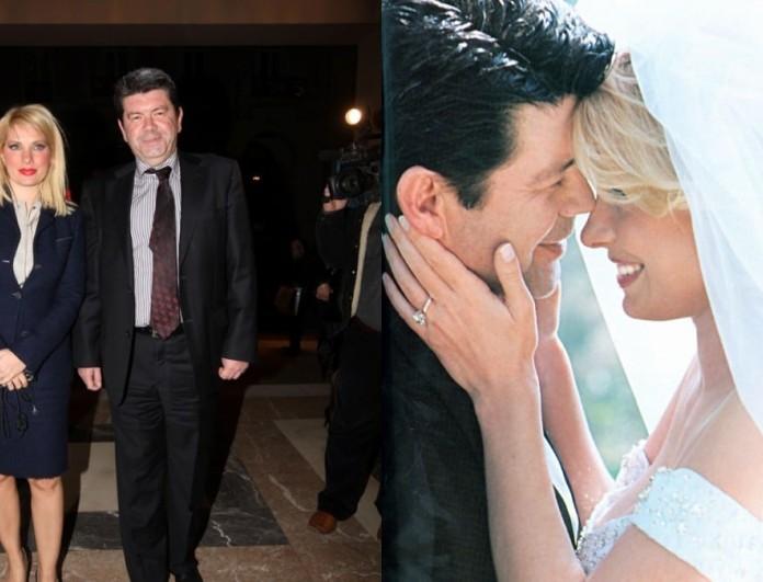 Σπάνιο υλικό: Φωτογραφίες από το νυφικό της Ελένης Μενεγάκη στον γάμο της με τον Γιάννη Λάτσιο