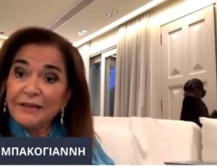 Ντόρα Μπακογιάννη: Μιλούσε σε διαδικτυακή εκδήλωση κι από πίσω ο σκύλος της...