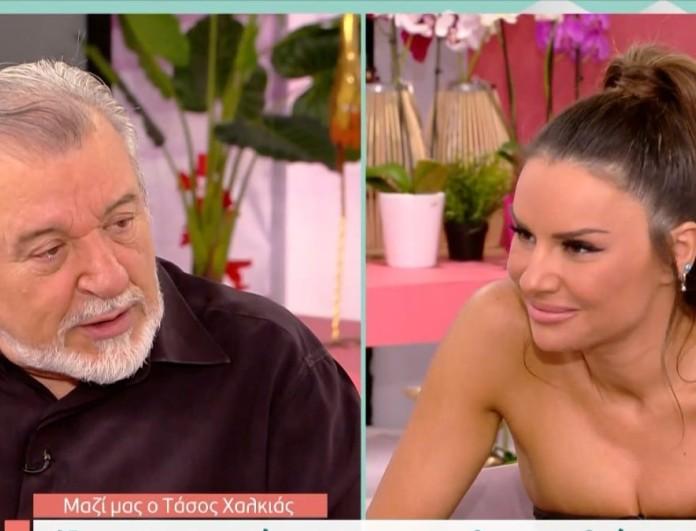 Φανερά ενοχλημένος ο Τάσος Χαλκιάς στην εκπομπή της Τσολάκη - «Βιάζεσαι πάρα πολύ να με ξεπετάξεις»