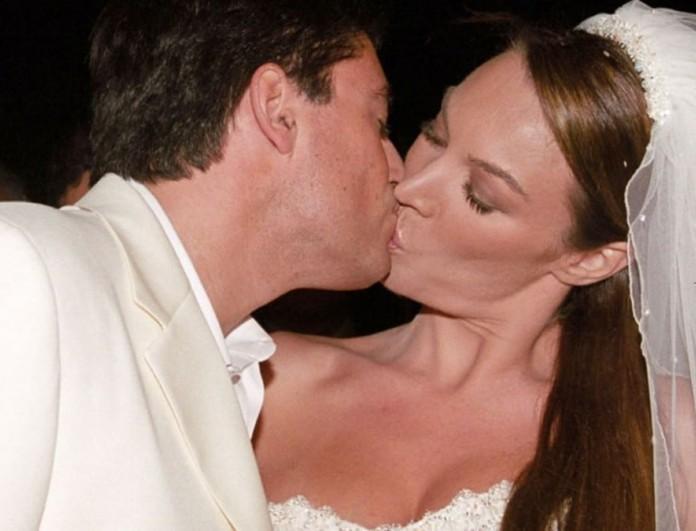 Με μίνι νυφικό και ξώφτερνα πέδιλα παντρεύτηκε η Τατιάνα Στεφανίδου τον Ευαγγελάτο - Φωτογραφίες από τον γάμο