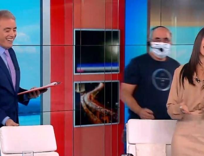 MEGA: Η on air έκπληξη του Γιώργου Παπαδάκη σε Ιορδάνη Χασαπόπουλο - Ανθή Βούλγαρη