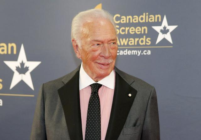Veteran actor Christopher Plummer arrives at the 2016 Canadian Screen Awards in Toronto