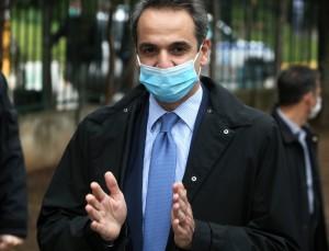 Κορωνοϊός: Στο νοσοκομείο Σωτηρία ο Κυριάκος Μητσοτάκης φορώντας μάσκα