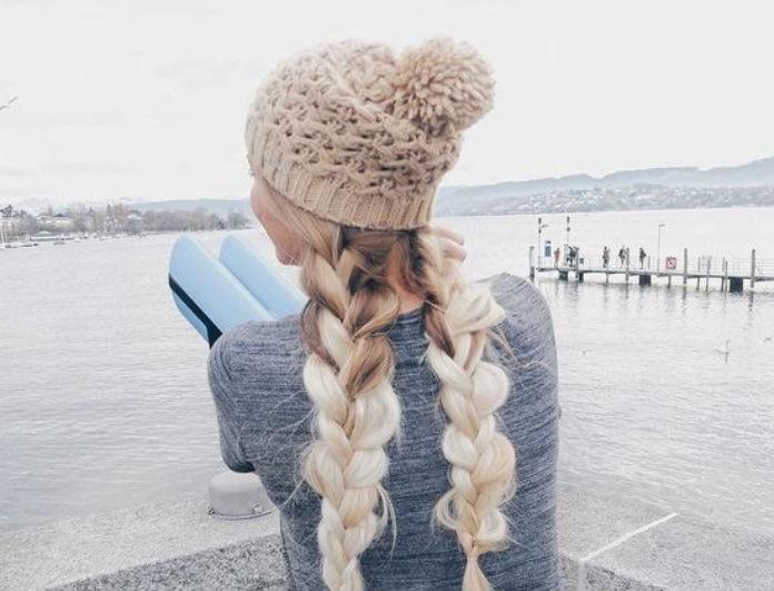 266a642c4373 Winter hair! Πώς να φτιάξεις τα μαλλιά σου όταν φοράς σκούφο - Πάρε ...