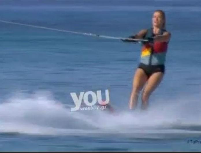 Φαίη Σκορδά όπως λέμε...Ντάνος! Η Φαίη κάνει θαλάσσιο σκι στο Πρωινό και εντυπωσιάζει! (Βίντεο)