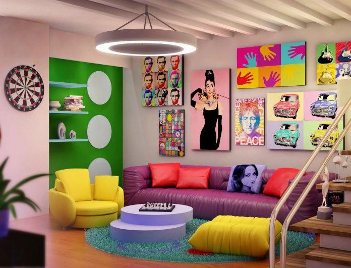 Pop art ιδέες διακόσμησης για το σπίτι