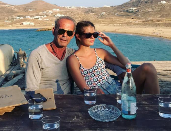 H τρυφερή φωτογραφία της Αμαλίας Κωστοπούλου με τον πατέρα της και το μήνυμα αγάπης (Photos)