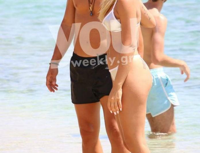 Αγκαλιές και φιλιά για γνωστό ζευγάρι της ελληνικής showbiz σε γνωστή παραλία της Μυκόνου λίγο καιρό μετά την επανασύνδεση! (Photos)