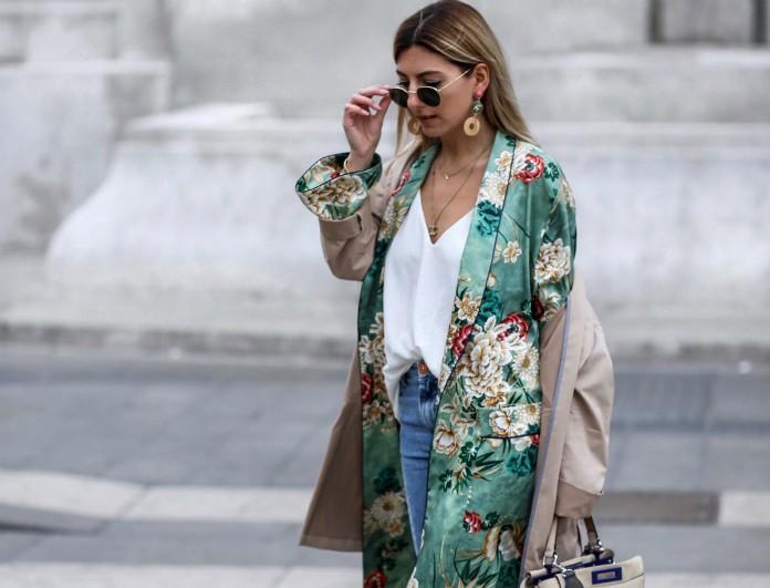 Το κιμονό του Zara που κατάφερε να φορεθεί ακόμα και με παντελόνι, έχει κλέψει τις εντυπώσεις
