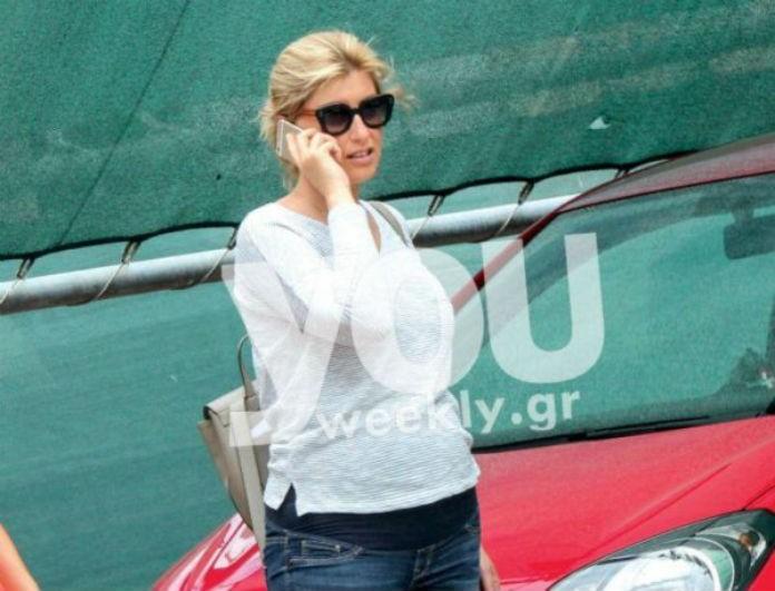 Σπάνια δημόσια εμφάνιση της Σίας Κοσιώνη στον 7ο μήνα εγκυμοσύνης της! Δεν φαντάζεστε πόσο έχει φουσκώσει η κοιλίτσα της!