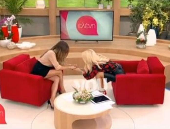 Η Ελένη Τσολάκη δείχνει τη βέρα της στην Ελένη Μενεγάκη! Η τρυφερή εξομολόγησή της για τον άντρα της ζωής της! (βίντεο)