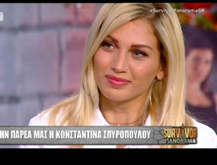 Survivor Panorama: Για πρώτη φορά! Η Κωνσταντίνα Σπυροπούλου αποκαλύπτει τον λόγο που μπήκε στο παιχνίδι! Η συνάντηση που δεν γνώριζε κανείς!