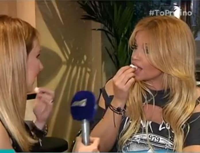 Τι άλλο θα δούμε! Η Σαμπρίνα έφαγε γαρδένιες on camera! (Βίντεο)