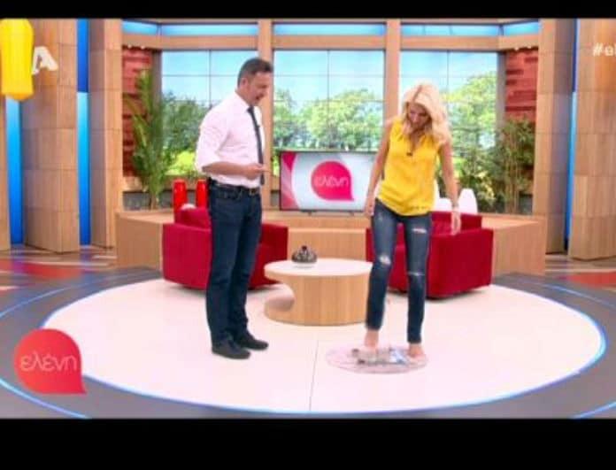 Η Ελένη Μενεγάκη ζυγίστηκε on air! Πόσα κιλά είναι; (Βίντεο)