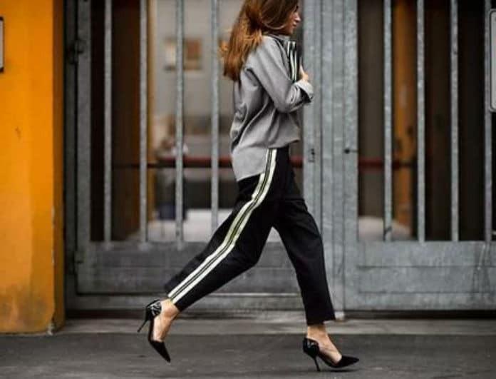 4cd9f8b5f2f4 Track pants  Πώς να φορέσεις τις φόρμες σου χωρίς να δείχνεις απεριποίητη.
