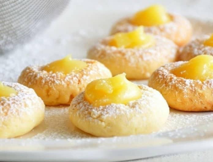 Μπισκότα με κρέμα λεμονιού!