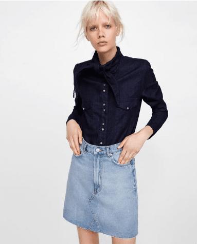 Την συγκεκριμένη τζιν φούστα μπορείς να την βρεις σε όλα τα καταστήματα  Zara και κοστίζει 29 f1f5077784e