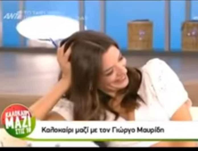 Του... έβγαλε τα μάτια και της την... είπε! Το αβυσσαλέο ντεκολτέ της Ράλλη δυσκόλεψε τον Γιώργο Μαυρίδη! (βίντεο)
