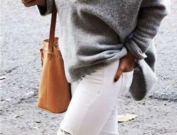 Φόρεσε το λευκό σου jean παντελόνι και το χειμώνα!