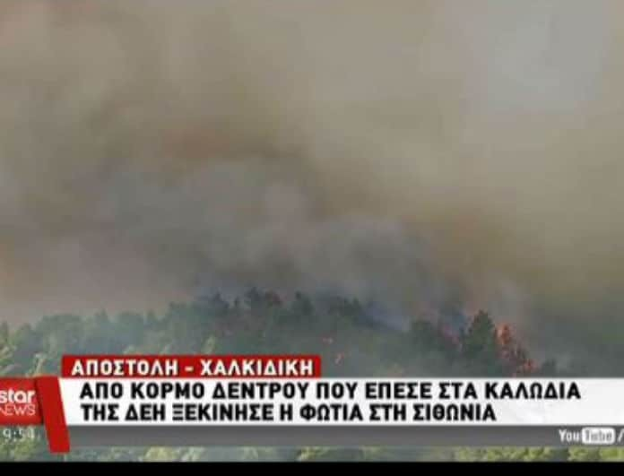Σε κατάσταση εκτάκτου ανάγκης η Χαλκιδική! Φεύγουν άρον-άρον οι κάτοικοι! Φόβοι για νέο Μάτι! (βίντεο)