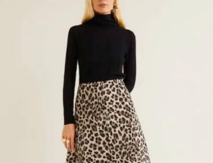 4 λεοπάρ midi φούστες που θα αναδείξουν την σιλουέτα σου με λιγότερα από 40 ευρώ!