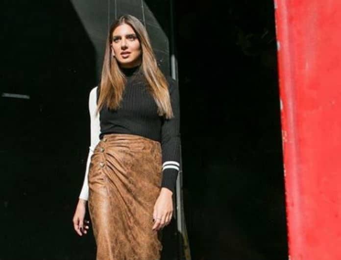 H Zara φούστα της Σταματίνας Τσιμτσιλή είναι το must have της σεζόν!