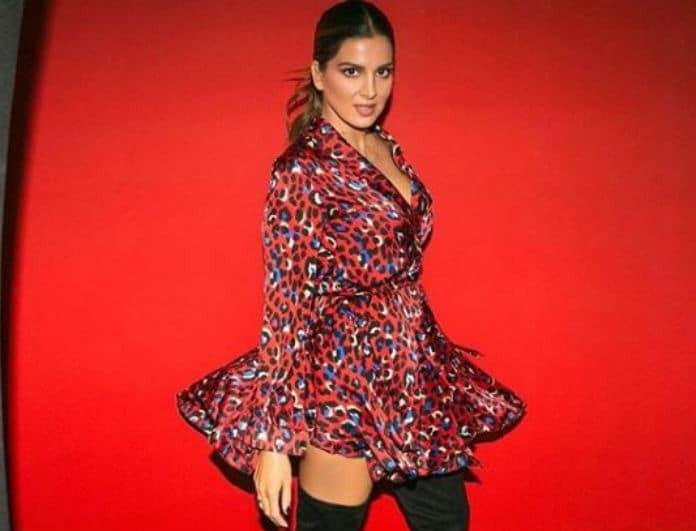 Το λεοπάρ φόρεμα της Σταματίνας Τσιμτσιλή θα σε κάνει να δεις τα animal print... αλλιώς!