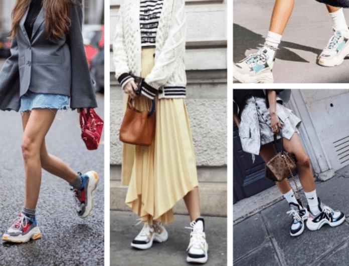 5+1 Dad sneakers: Τα παπούτσια που φοράνε όλες οι fashion bloggers είναι η απόλυτη τάση της σεζόν!