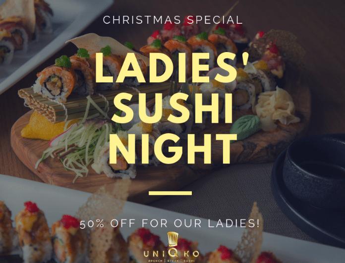 Κάθε Τρίτη τo απόλυτο στέκι των sushi lovers μας καλεί σε Ladies Night!