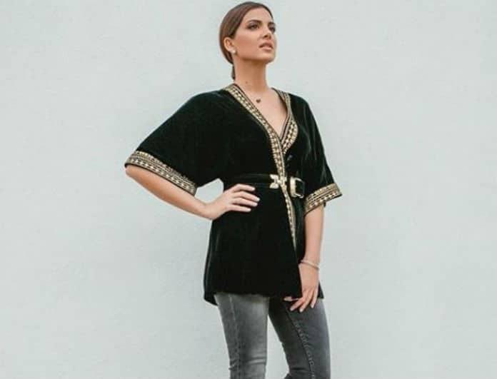 Σταματίνα Τσιμτσιλή: Φόρεσε το απόλυτο velvet top! Δες πως να το συνδυάσεις!