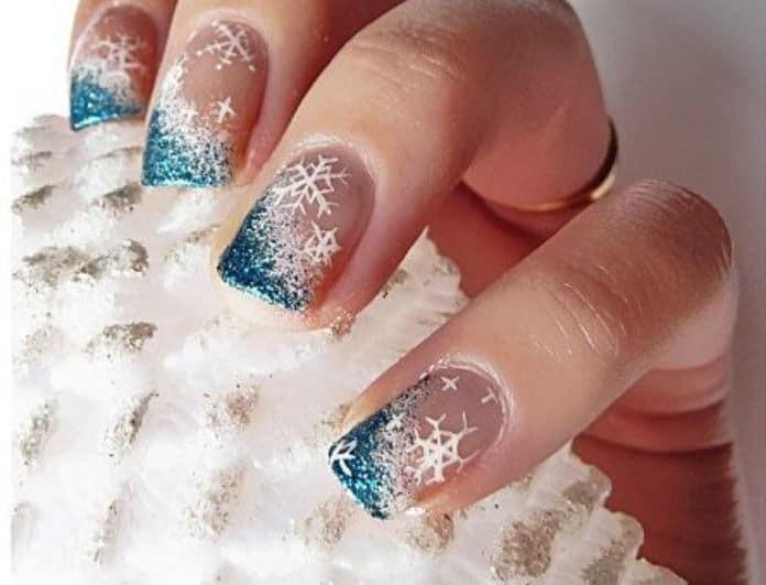 5+1 ιδέες για τα νύχια τις ημέρες των Χριστουγέννων και της Πρωτοχρονιάς!