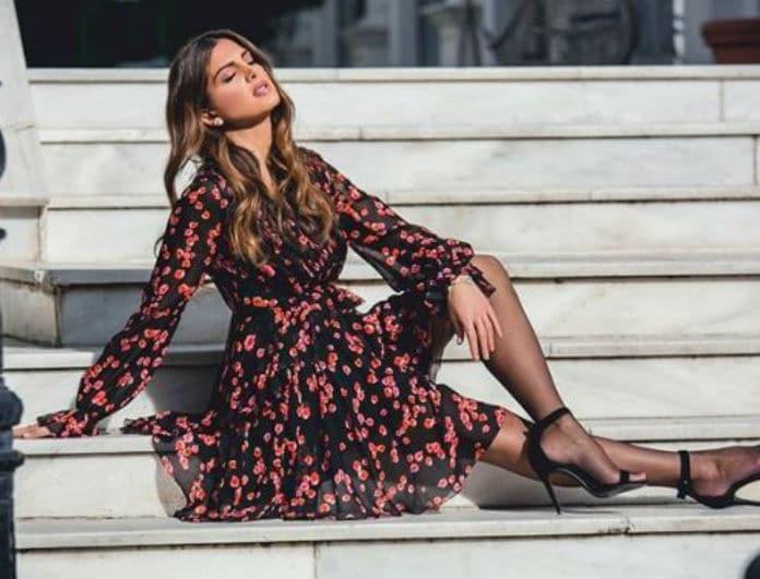 Σταματίνα Τσιμτσιλή: Το floral φόρεμα που μπορείς να φορέσεις από το πρωί έως το βράδυ!