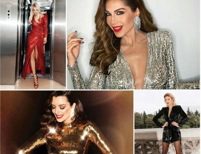 Βρήκαμε τι φόρεσαν οι διάσημες κυρίες της ελληνικής showbiz στα ρεβεγιόν!