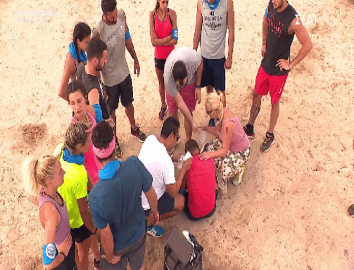 Survivor Ελλάδα Τουρκία: Ο τραυματισμός του Τόνυ! - Τι συνέβη; (Video)
