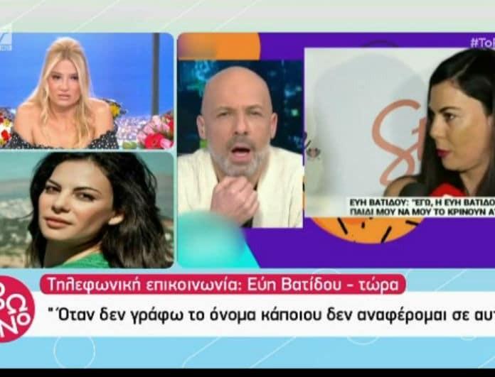 Εύη Βατίδου: Η δημόσια επίθεση στην Σκορδά και το Πρωινό! «Λέτε βλακείες! To παίζεις χαζούλα Φαίη;» (Βίντεο)
