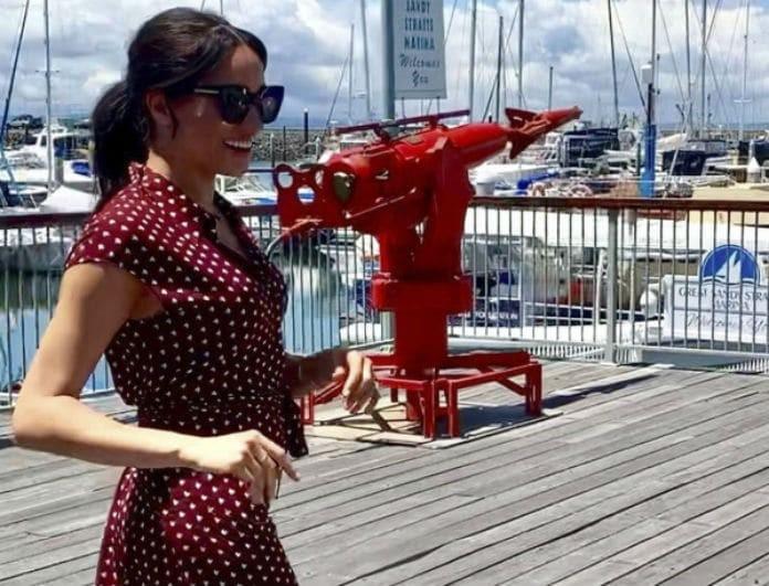 Meghan Markle: Το αγαπημένο της πουά φόρεμα είναι σε προσφορά! Κοστίζει μόνο 70 ευρώ
