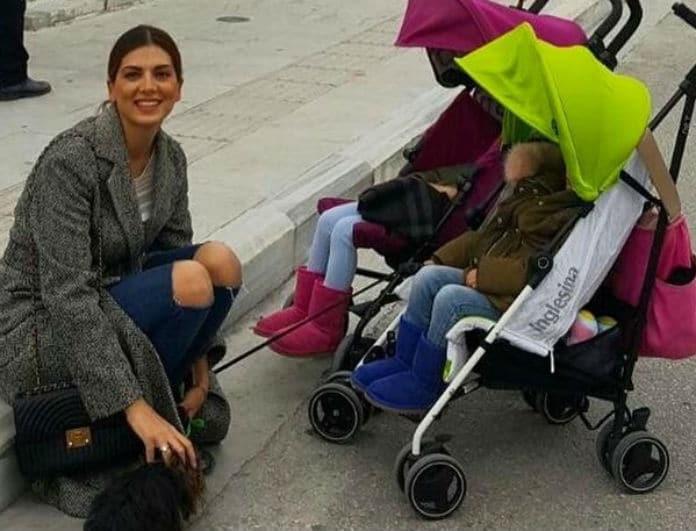 Σταματίνα Τσιμτσιλή: Η κυριακάτικη βόλτα με τις κορούλες της! Πού βρέθηκαν;