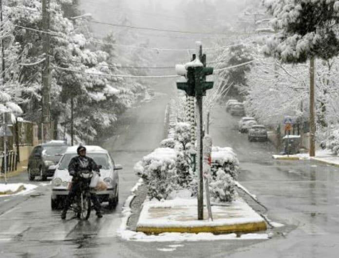 Έκτακτο δελτίο επιδείνωσης καιρού! Χιόνι την Τετάρτη στην Αθήνα, κάθετη πτώση της θερμοκρασίας!