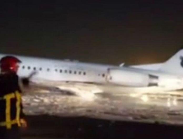 Έκτακτο! Αεροσκάφος με 100 επιβάτες πήρε φωτιά!