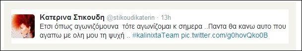 Τo tweet που έκανε η Κατερίνα Στικούδη!