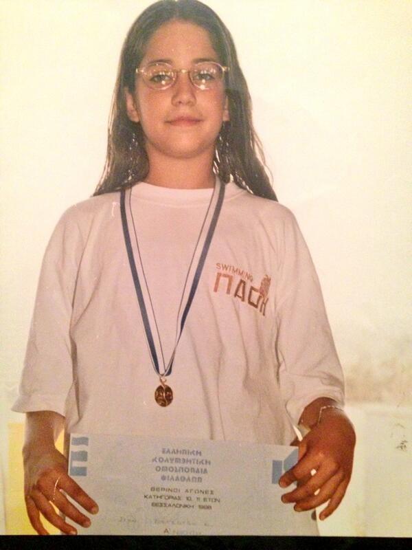 Η Κατερίνα Στικούδη σε παιδική ηλικία