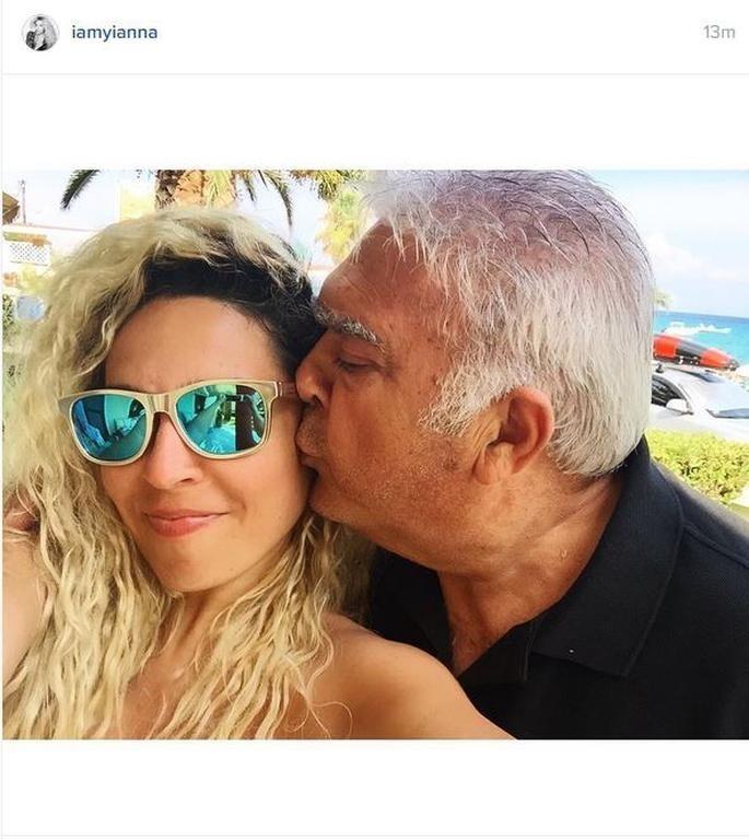 Ο τραγουδιστής Πασχάλης Τερζής με την κόρη του, Γιάννα