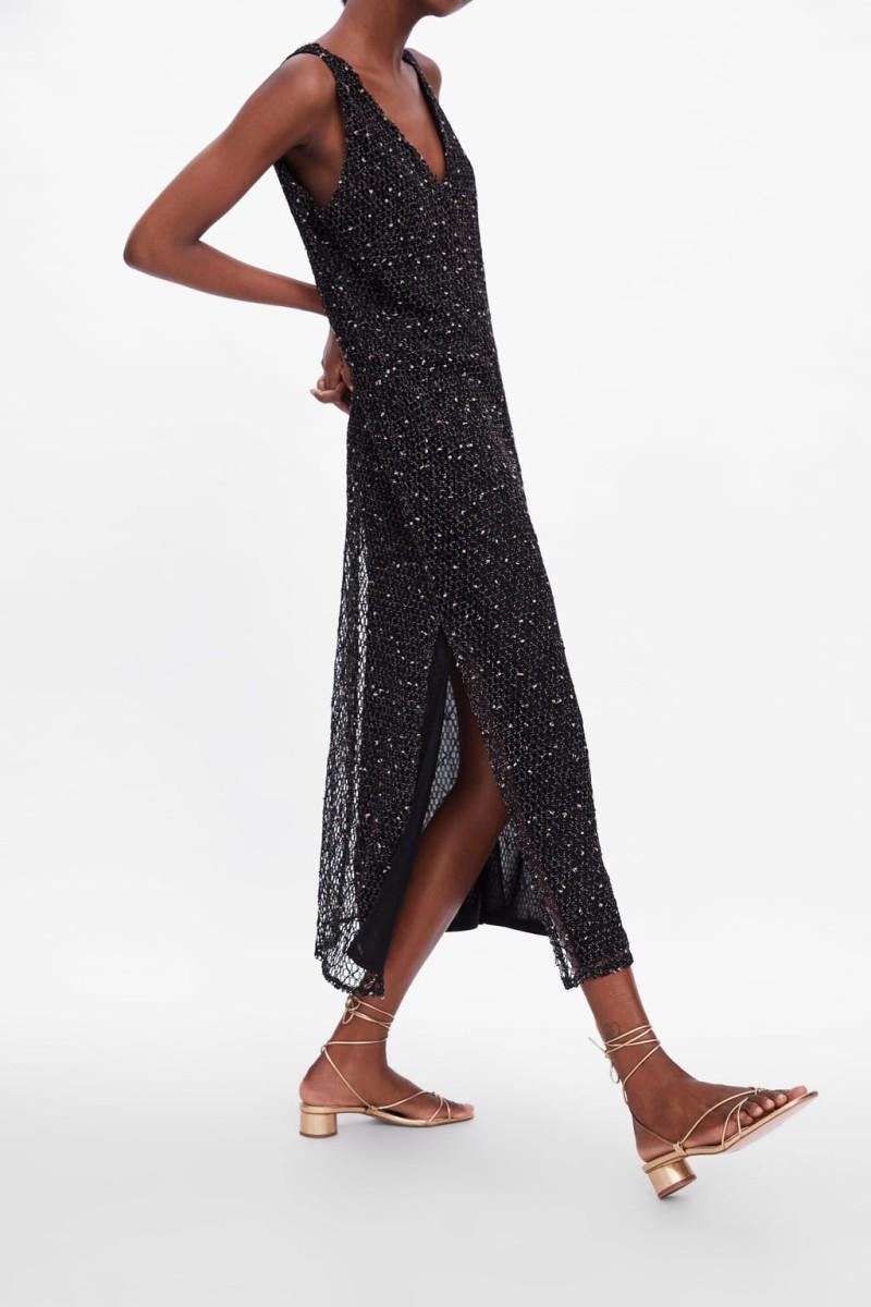 Zara ανοιξιάτικο πέδιλο νέας συλλογής κολεξιόν για το 2019